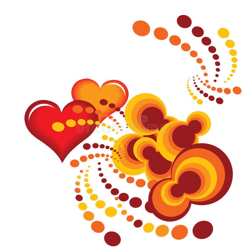 Heart orange royalty free illustration