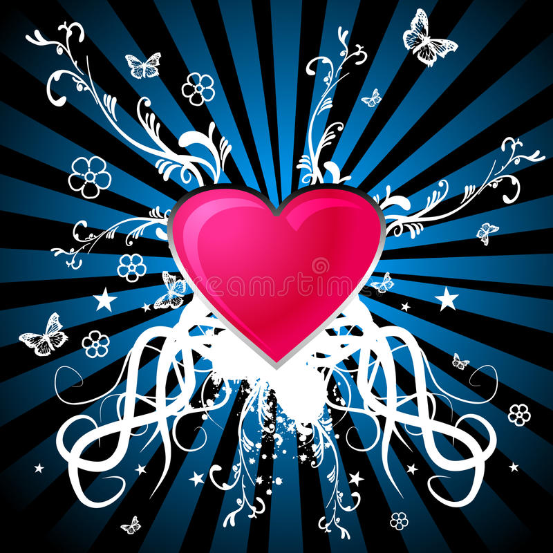 Download Heart with ornaments stock illustration. Image of blue - 11206359