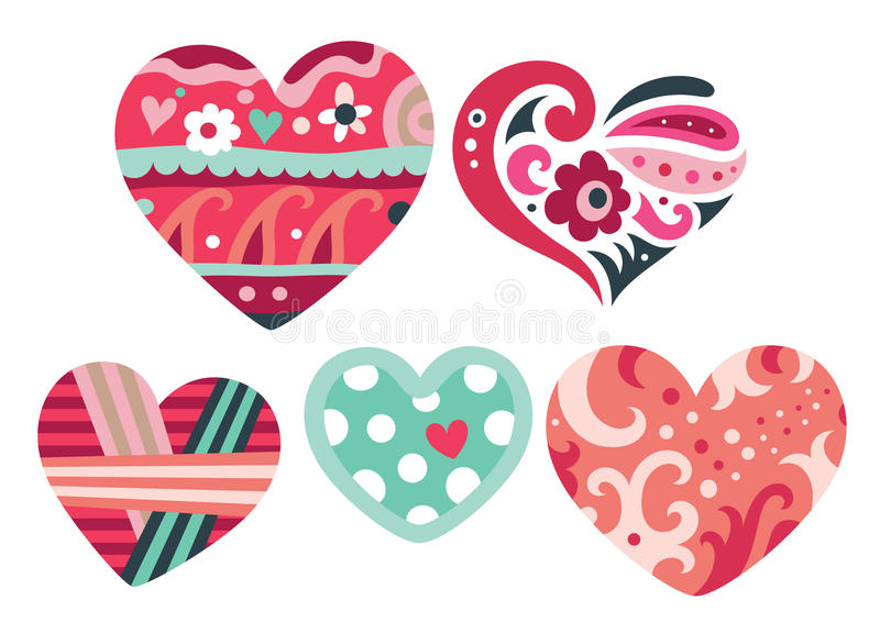 Download Heart Ornaments stock vector. Image of pretty, dots, heart - 16271067