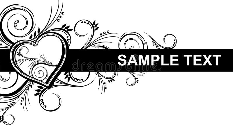 Heart and ornaments vector illustration