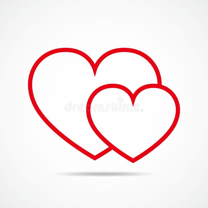Heart outline icon. Vector illustration. stock illustration