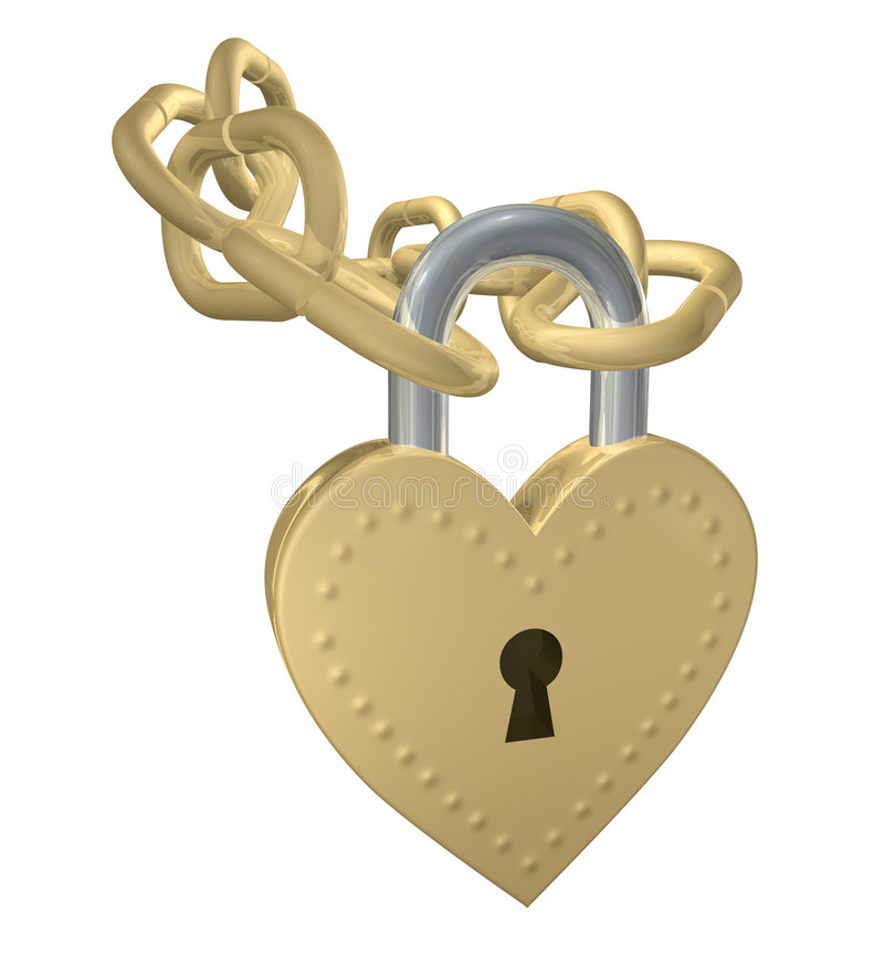 Heart Padlock royalty free illustration