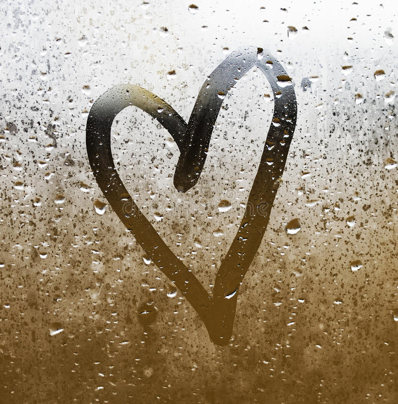 Download Heart painted on glass stock image. Image of amour, holiday - 28933683