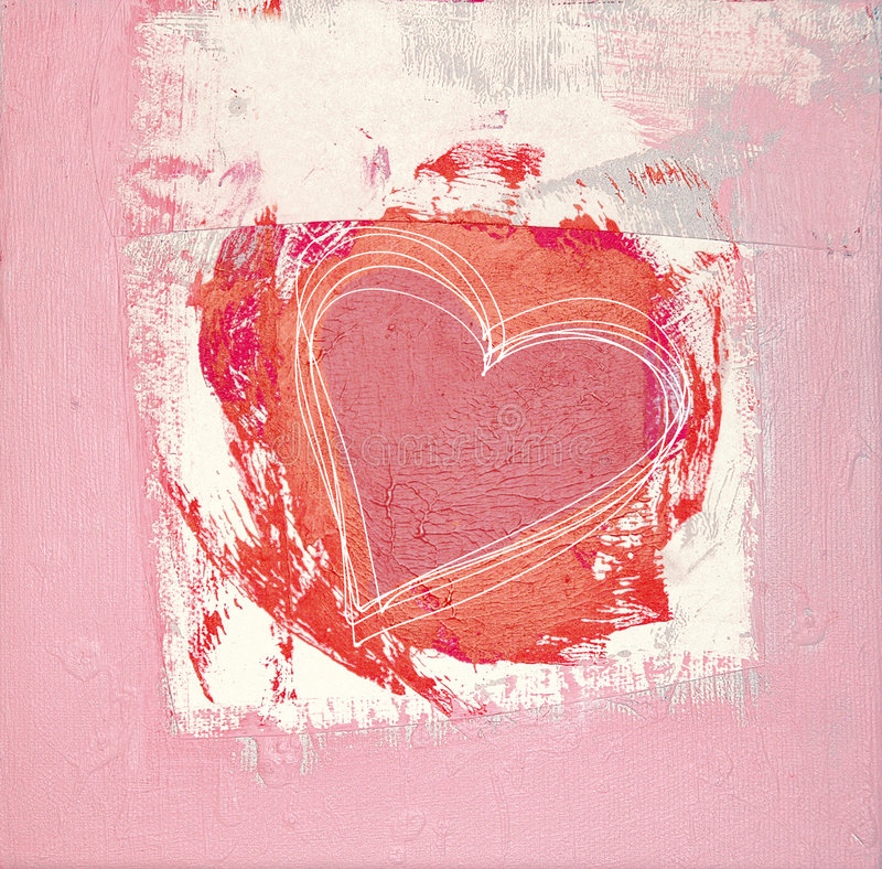 Heart painted One royalty free stock photography