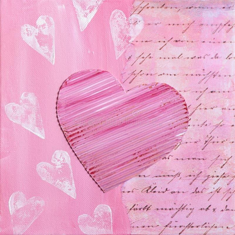 Heart painting royalty free stock photos