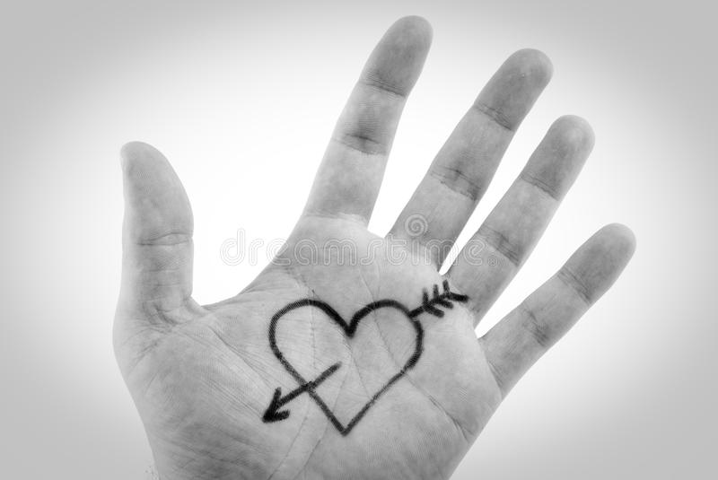 Download Heart in palm stock photo. Image of symbol, sign, arrow - 10684120