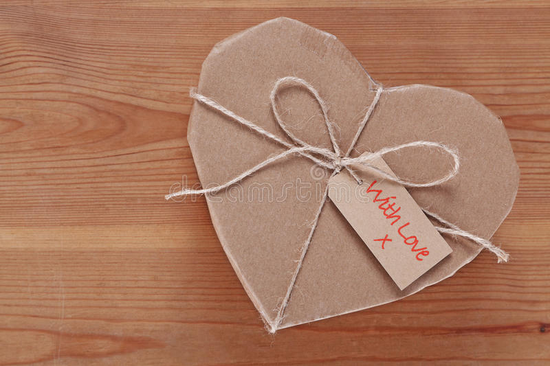 Heart Parcel Sent With Love Stock Photo