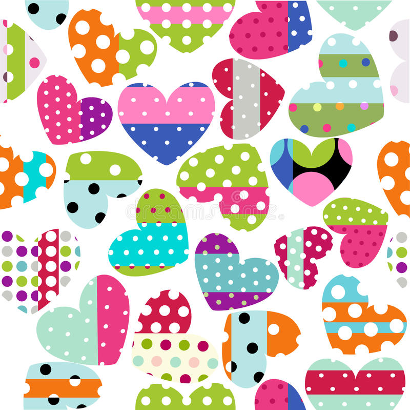 Heart Patches Royalty Free Stock Images