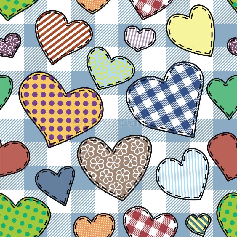 Heart patchwork pattern royalty free illustration