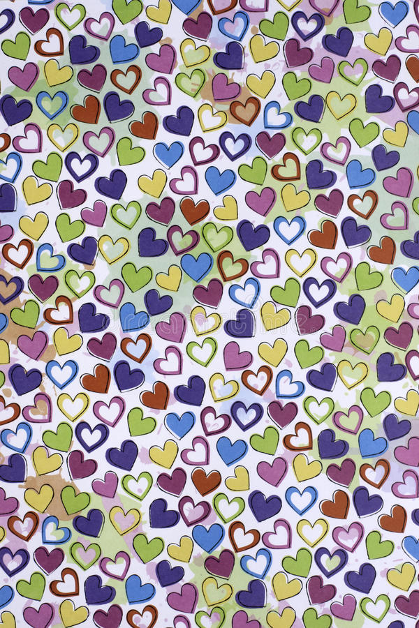 Heart pattern. A heart pattern with different colors royalty free stock photography