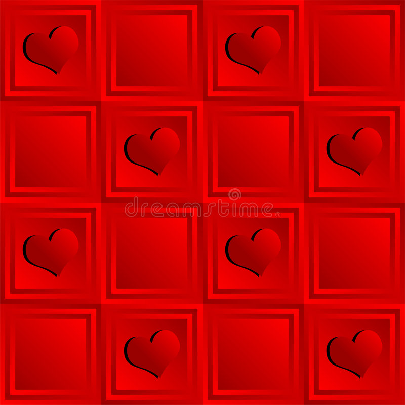 Heart pattern royalty free stock photos