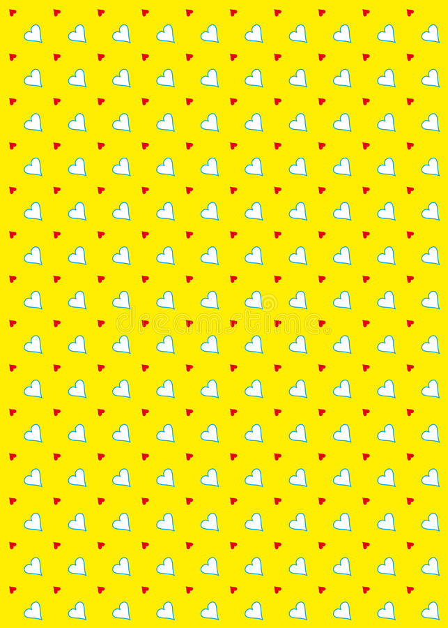 Download Heart Pattern Background Yellow Stock Illustration - Image: 17679060