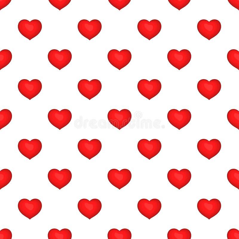 Heart pattern, cartoon style. Heart pattern. Cartoon illustration of heart vector pattern for web vector illustration