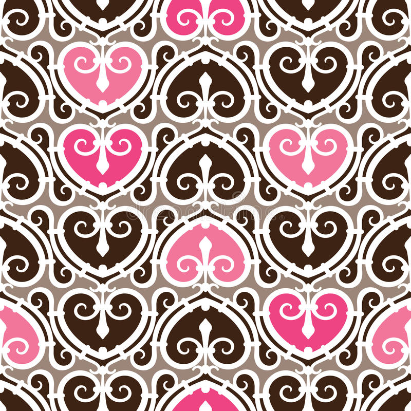 Free Heart Pattern Seamless Stock Photography - 9763962