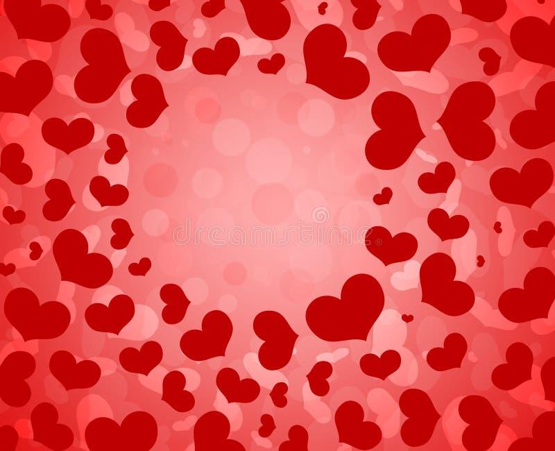 Heart pattern Valentine`s Day background. stock photo