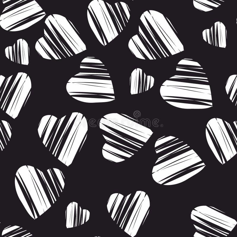 Heart pattern, vector seamless background. vector illustration