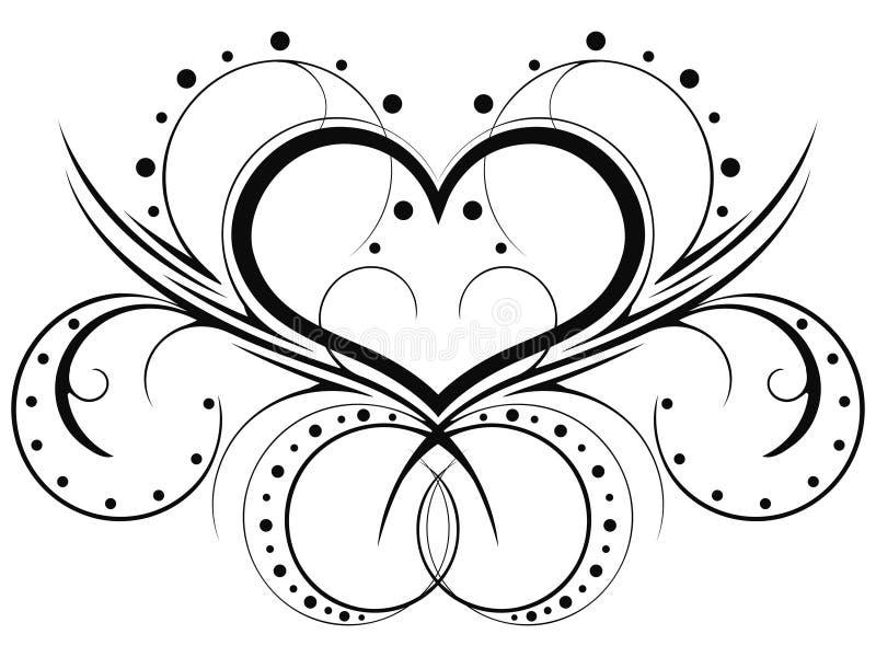 Heart patterns royalty free illustration