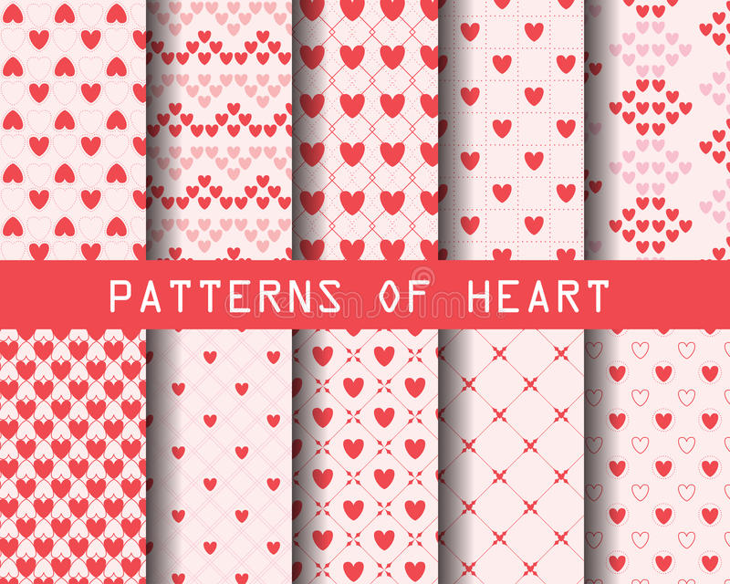Heartbeat Pattern Heartbeat Vector Pattern Vector: Heart Patterns Stock Vector