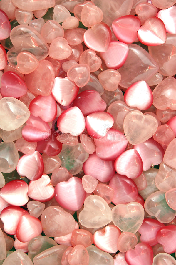 Download Heart pendants stock photo. Image of clear, pink, precision - 7096182