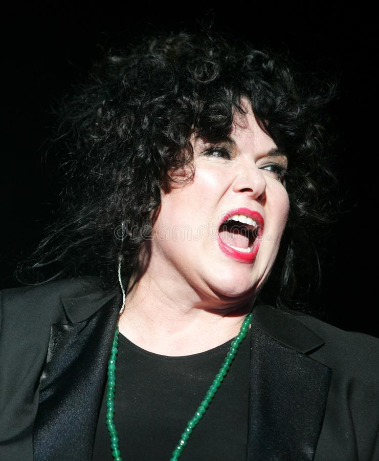 Heart performs in concert. Ann Wilson with Heart performs in concert at the Cruzan Amphitheater in West Palm Beach, Florida on June 15, 2011 stock photo