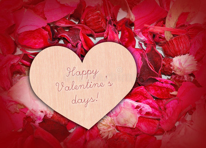 Download Heart On Petals Stock Photo - Image: 12469670