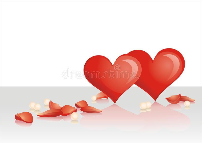 Download Heart And Petals Royalty Free Stock Image - Image: 12472556