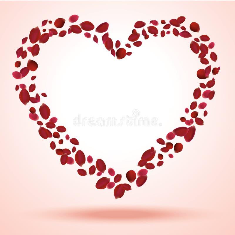 Download Heart petals stock vector. Illustration of vector, symbol - 24566072