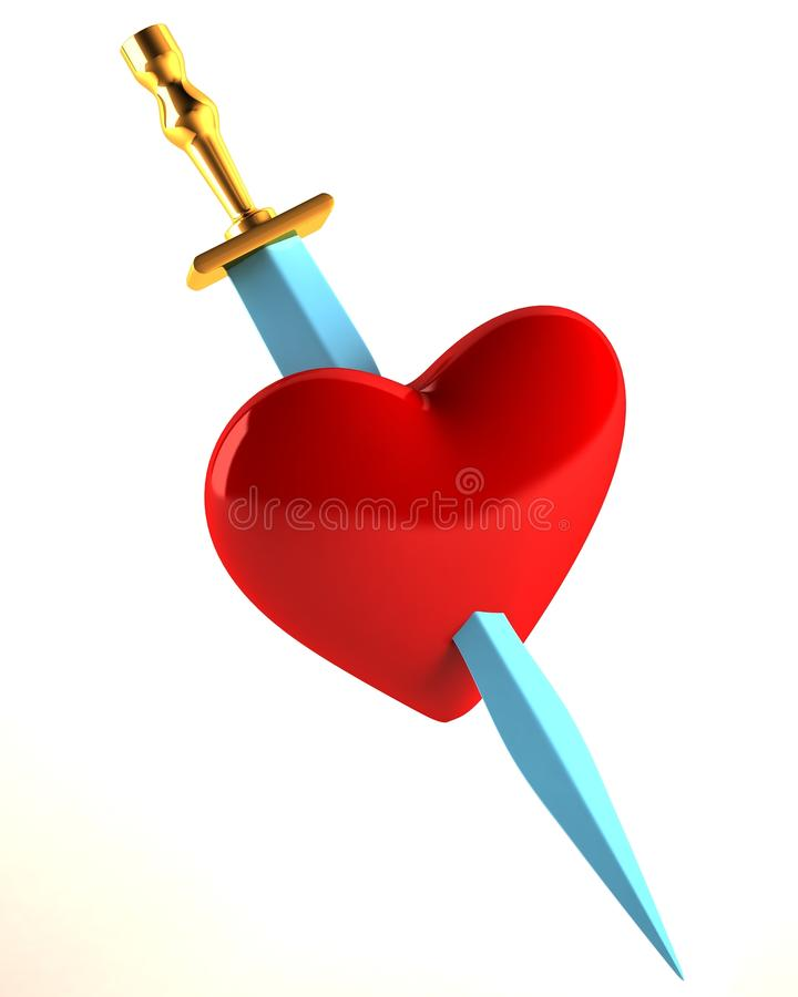 Download The Heart Pierced With A Knife Stock Illustration - Image: 24040702