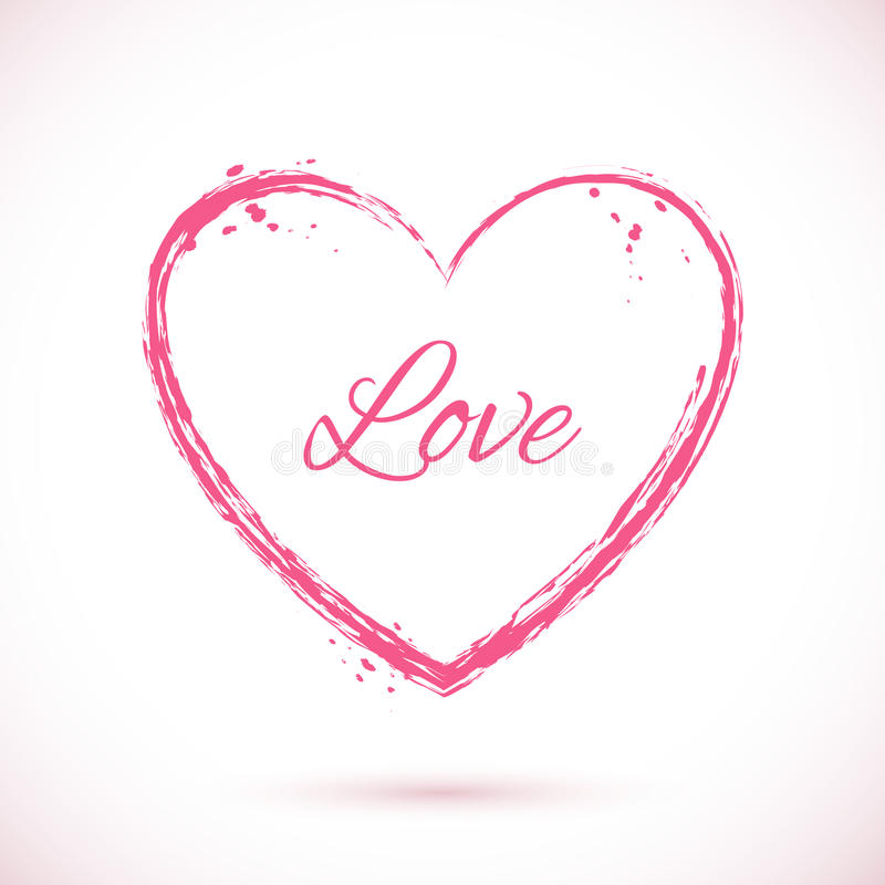 Heart-pink-frame royalty free illustration