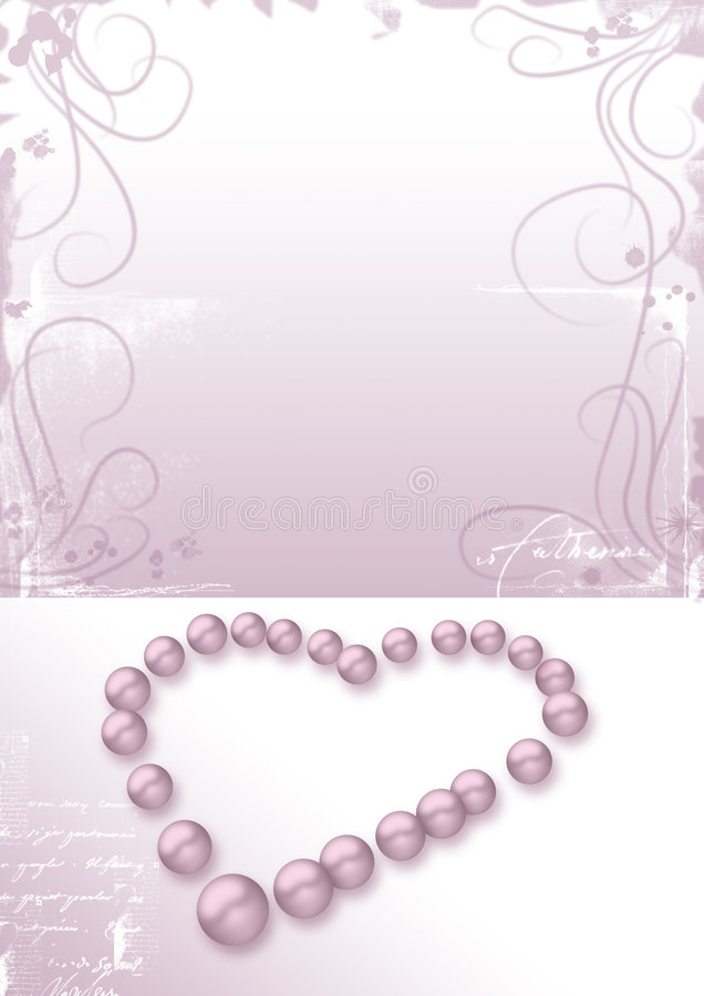 Download Heart Pink Pearls, Love Letter Stock Photo - Image: 1725562