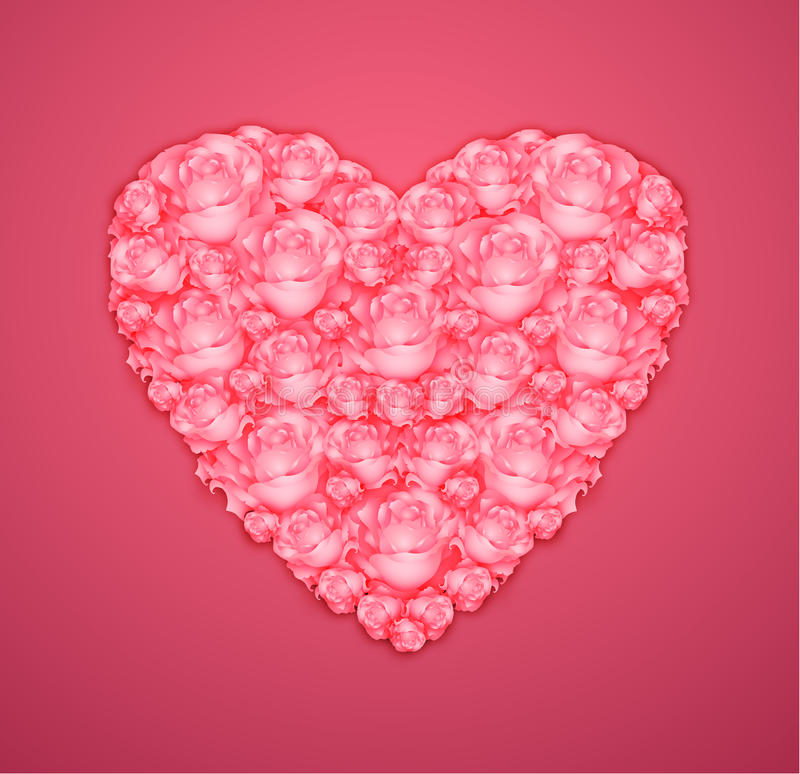 Download Heart from pink roses stock photo. Image of fine, garden - 28997942