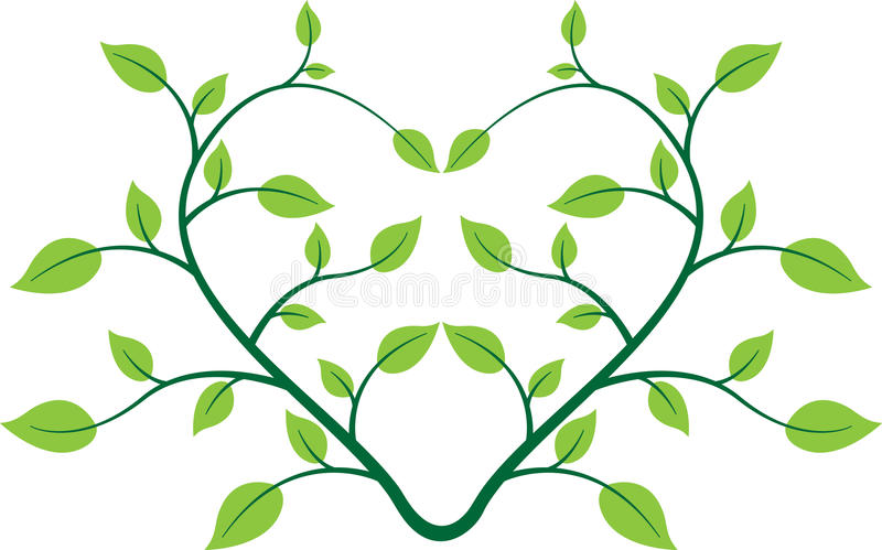 Heart plant vector illustration