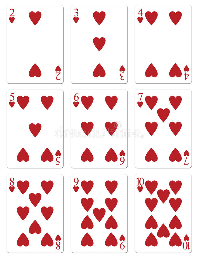 Free Heart Playing Cards Royalty Free Stock Photo - 29964005