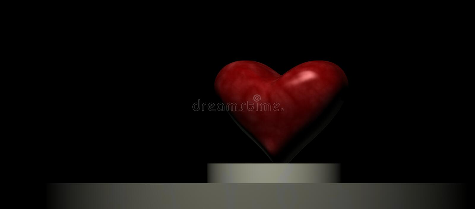 Heart on a Podium royalty free stock images