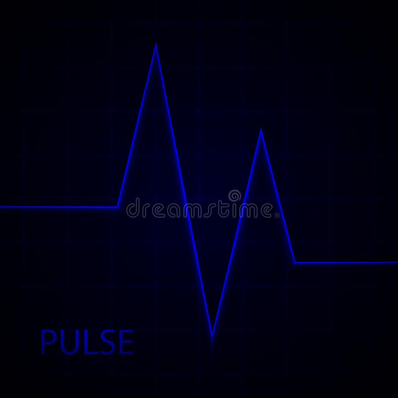 Heart pulse. Electrocardiogram. Heartbeat. Vector medical background with heart cardiogram. royalty free illustration