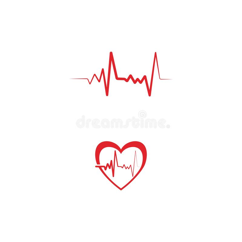 Heart pulse Logo Template vector symbol. Nature stock illustration