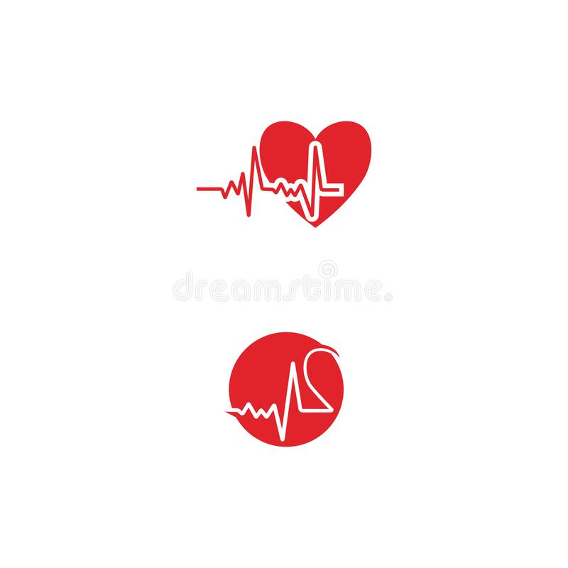 Heart pulse Logo Template vector symbol. Nature vector illustration