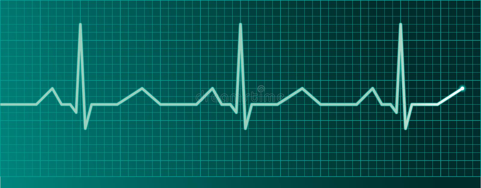 Heart pulse monitor. With pulse royalty free illustration