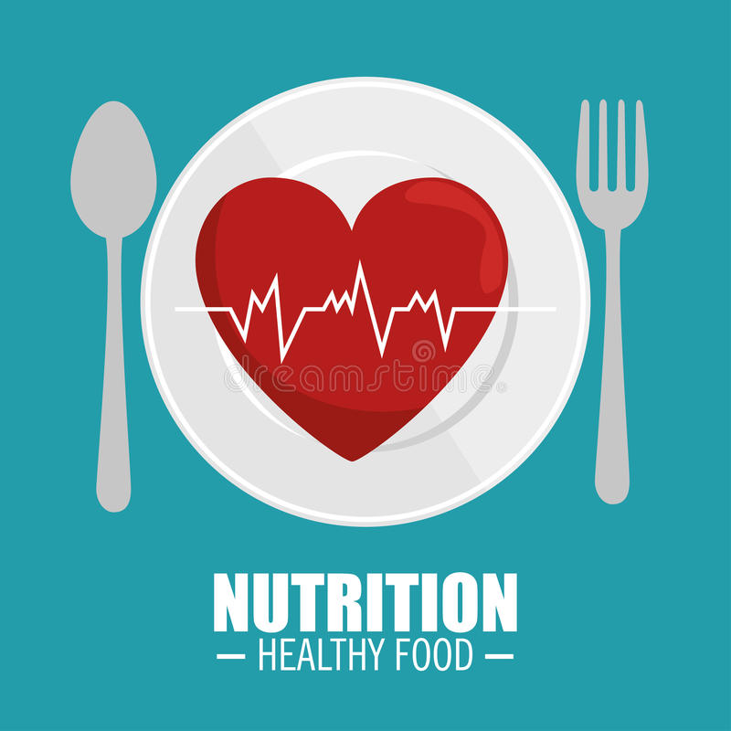heart pulse nutrition healthy royalty free illustration