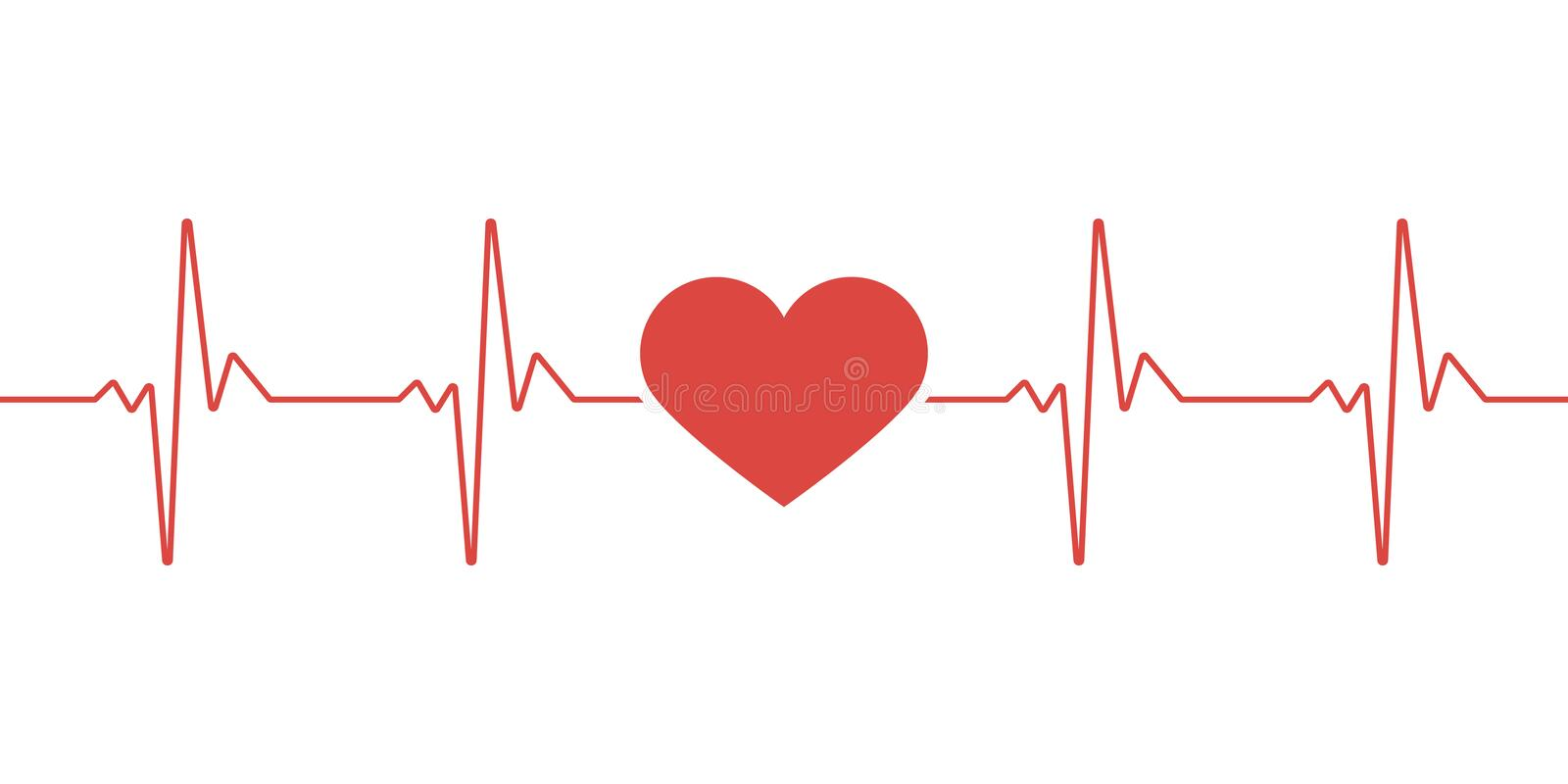 Heart pulse. Red and white colors. Heartbeat lone, cardiogram. Beautiful healthcare, medical background. Modern simple design. stock photos