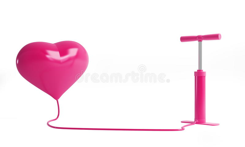 Heart pump. On a white background royalty free illustration
