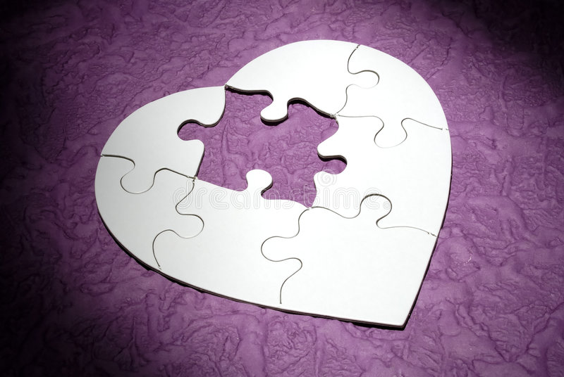 Heart Puzzle stock image
