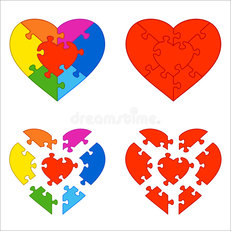 Free Heart Puzzle Royalty Free Stock Photos - 5999828