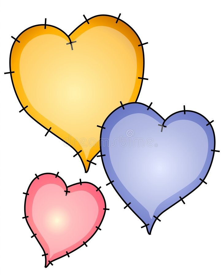 Download Heart Quilt Patches Clip Art Stock Illustration - Image: 2719649