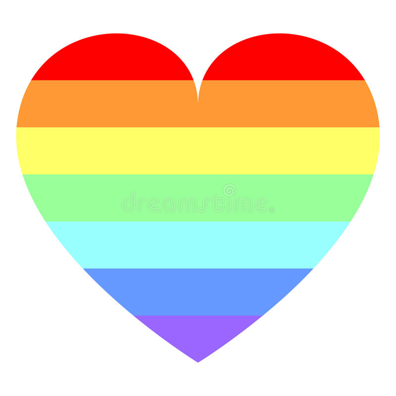 Download Heart In Rainbow Colors Royalty Free Stock Photos - Image: 13738358