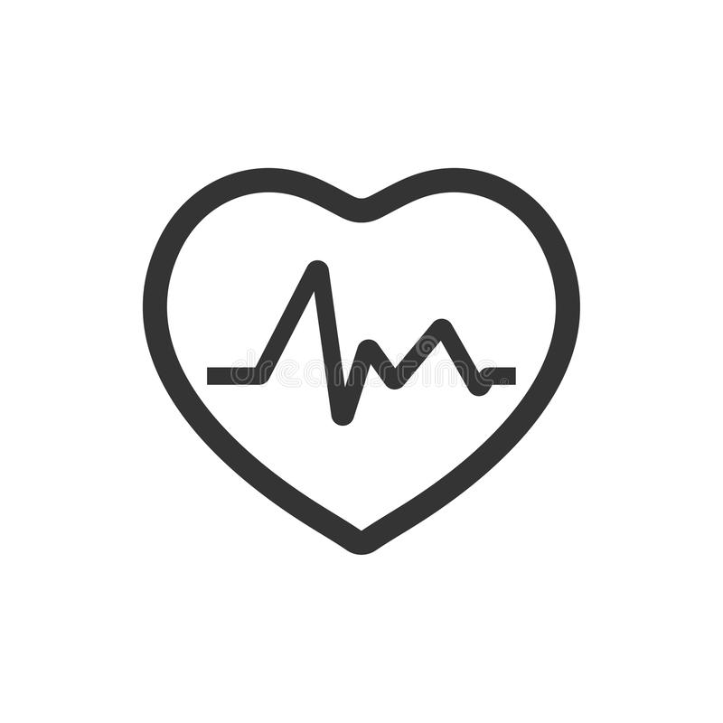 Heart Rate Icon. Beautiful, meticulously designed Heart Rate Icon. Perfect for use in designing and developing websites, printed materials and presentations vector illustration