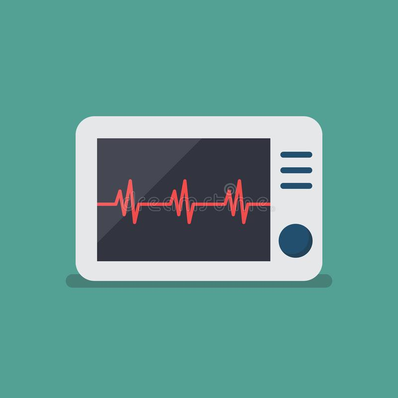 Heart rate monitor. Vector Illustration stock illustration