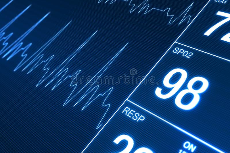 Heart Rate Monitor. Illustration. Health Technology Concept royalty free illustration