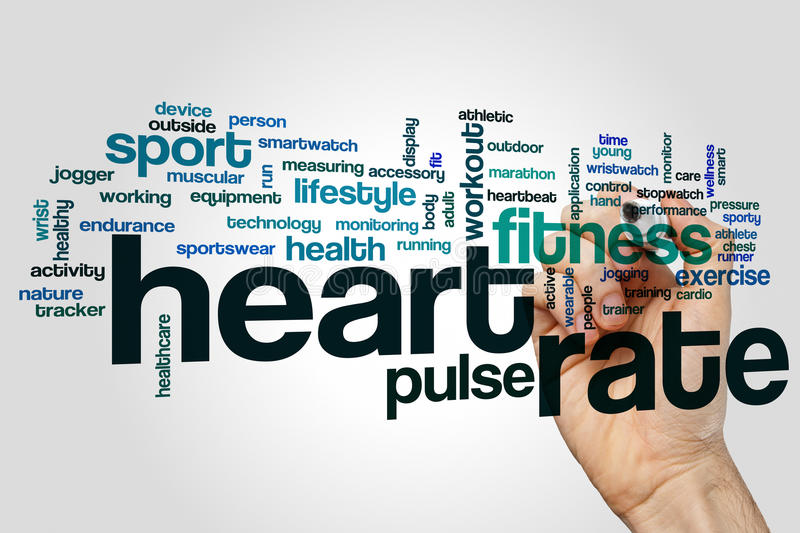 Heart rate word cloud stock illustration