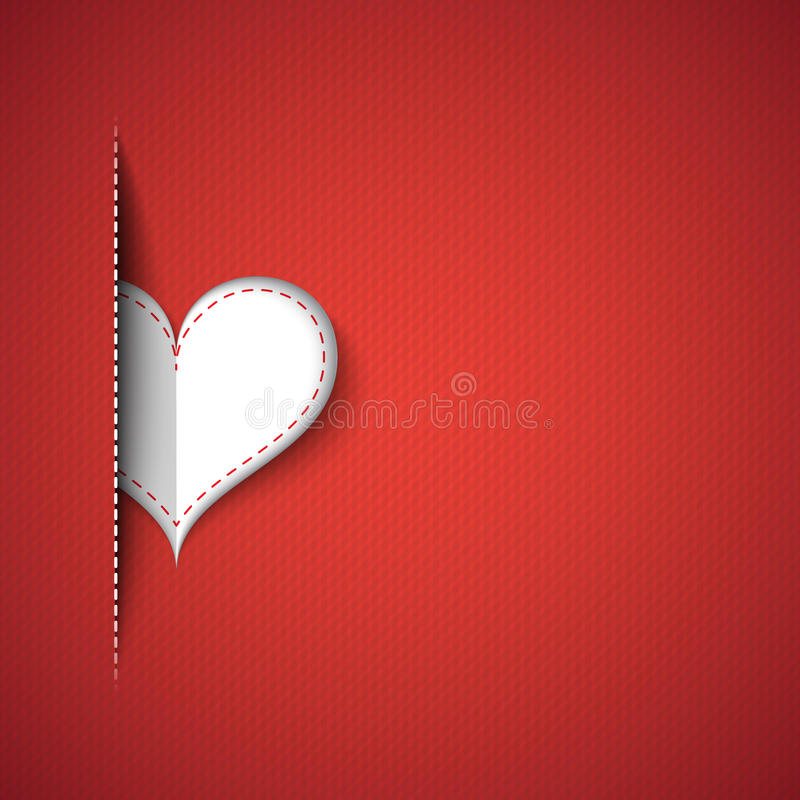 Heart red background royalty free illustration